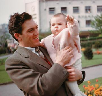 Dad and me in Castle Gardens. 1961.