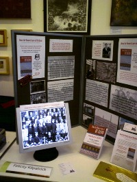 Display and slide show at the Local History Book Fair. Swansea Museum. 2009.