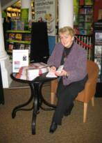 Felicity Kilpatrick. Book signing in Waterstone's, Swansea. March 2009.