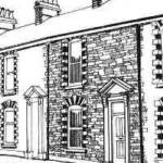 An artist's impression of 46 Gerald Street as it was in the 1940's. The faces of the houses are largely unchanged. Though the windows and doors have been replaced with UPVC, the brickwork detail around the windows and chimneys reveals the care that was taken with the design of the terraces.